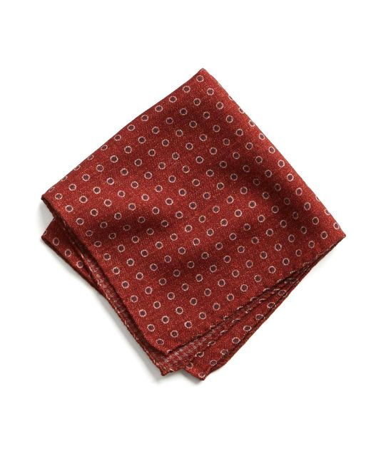 Todd Snyder - Italian Wool Pocket Square In Red Circle - Lyst