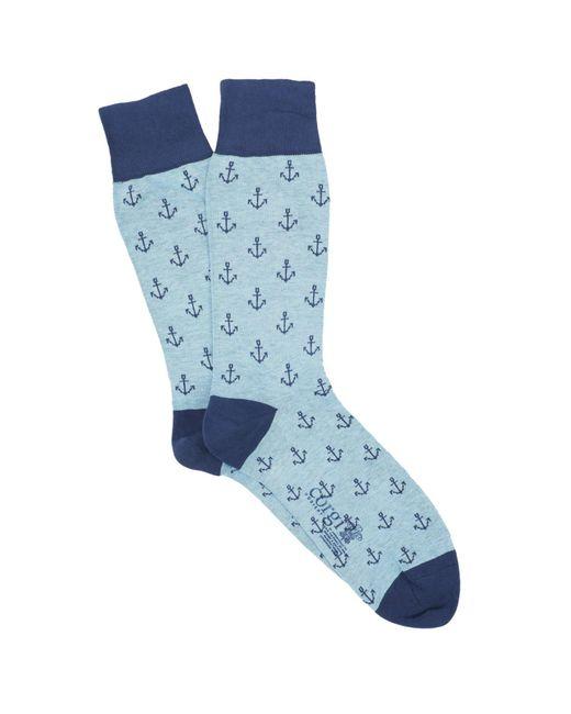 Corgi - Anchor Socks In Blue for Men - Lyst