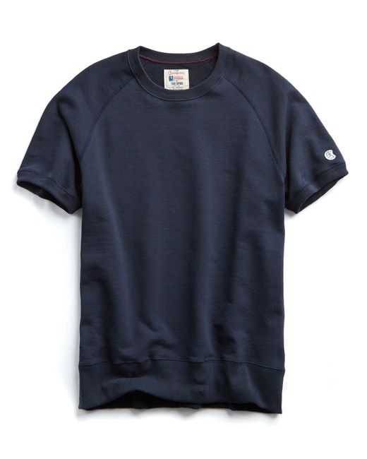 Todd Snyder - Blue Short Sleeve Sweatshirt In Navy for Men - Lyst