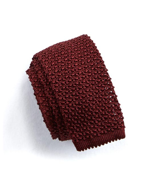 Todd Snyder - Red Classic Knit Silk Tie In Maroon for Men - Lyst