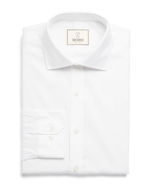 Todd Snyder - Spread Collar Dress Shirt In White for Men - Lyst
