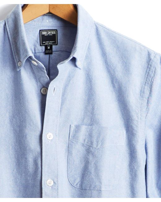 Todd Snyder - Japanese Selvedge Oxford Shirt In Blue for Men - Lyst