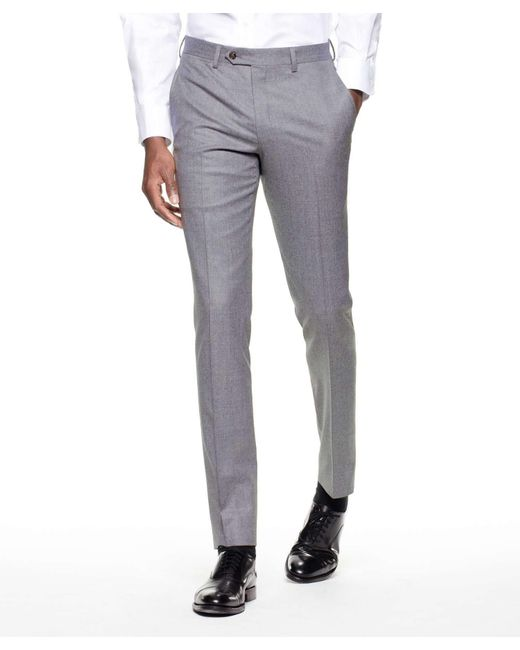 Todd Snyder | Gray Sutton Suit Pant In Italian Natural Stretch Light Grey Wool for Men | Lyst
