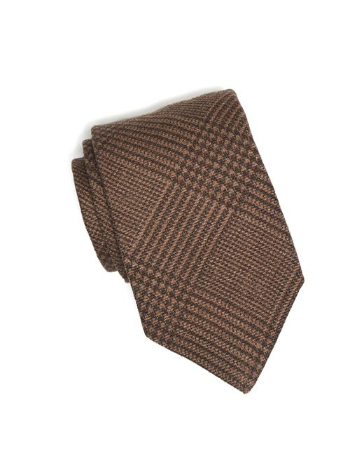 Drake's - Brown Prince Of Wales Plaid Tie for Men - Lyst