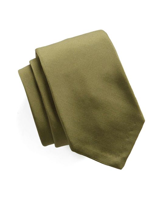 Todd Snyder - Green Hand Finished Solid Silk Tie In Olive for Men - Lyst
