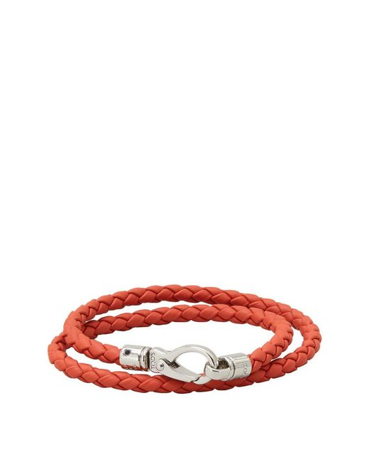 Tod's - Red Mycolors Bracelet In Leather - Lyst