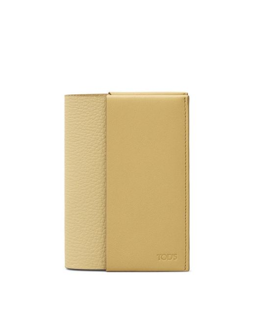 Tod's - Yellow Leather Passport Holder - Lyst