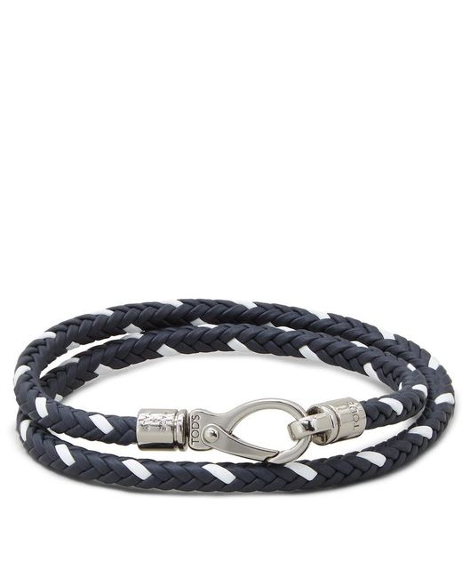 Tod's - Blue Mycolors Bracelet In Leather for Men - Lyst