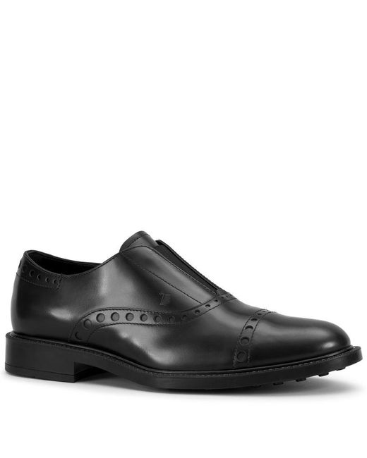 Tod's - Black Slip-ons In Leather for Men - Lyst