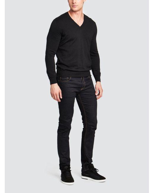 Tomas Maier - Black V-neck Sweater for Men - Lyst