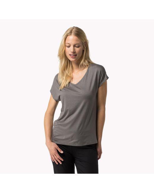 Tommy Hilfiger | Gray Modal Stretch V-neck T-shirt | Lyst