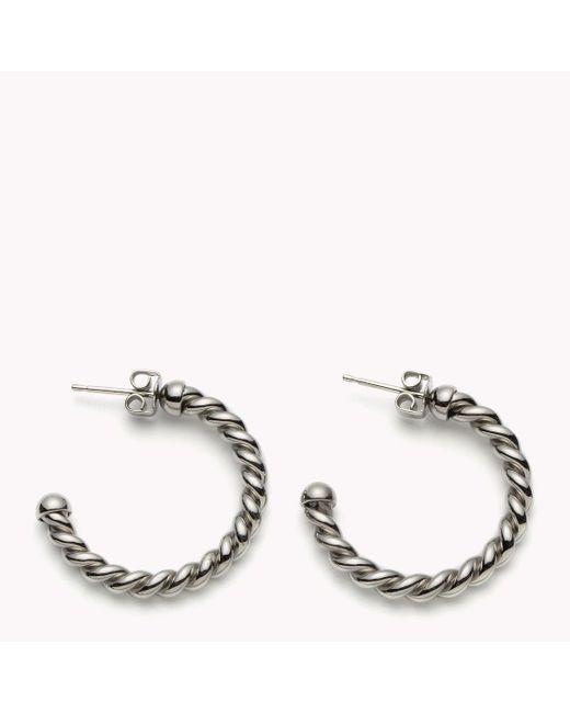 Tommy Hilfiger   Metallic Rope Hoop Earrings   Lyst