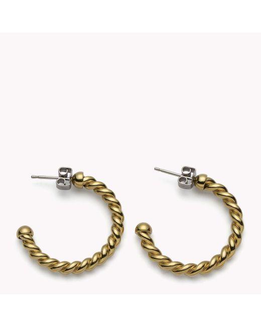 Tommy Hilfiger | Yellow Rope Hoop Earrings | Lyst