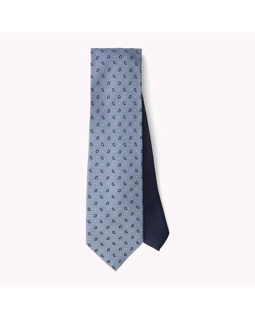 Tommy Hilfiger   Blue Paisley Silk Tie for Men   Lyst