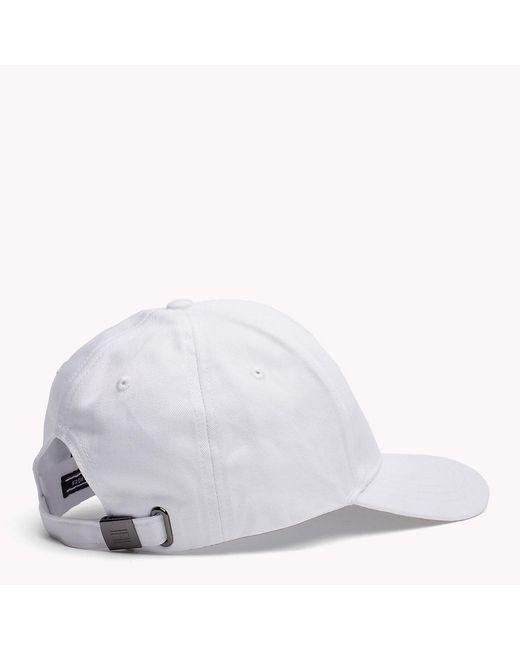 ... Tommy Hilfiger - White Classic Baseball Cap for Men - Lyst b3ccdb7240f3