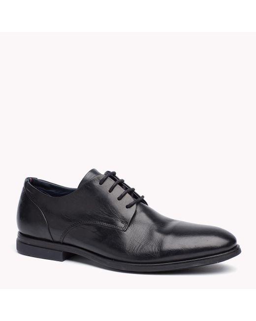 Tommy Hilfiger   Black Leather Dress Shoe for Men   Lyst
