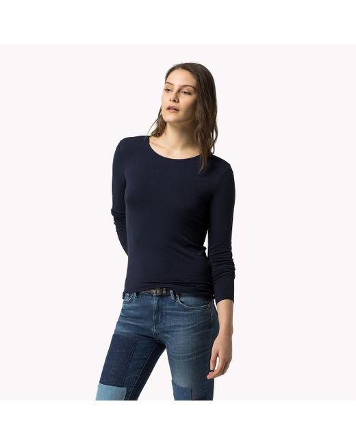 Tommy Hilfiger | Blue Jada Viscose Printed T-shirt | Lyst