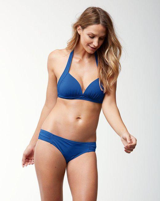 Tommy Bahama - Blue Pearl Halter Bikini Top - Lyst
