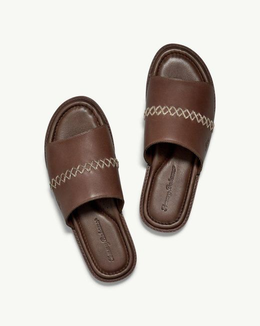 6ec3f460c9 ... Tommy Bahama - Brown Adwin Slide Sandals for Men - Lyst