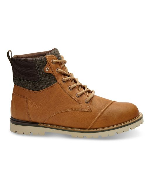 TOMS | Brown Waterproof Dark Toffee Leather Men's Ashland Boots for Men | Lyst