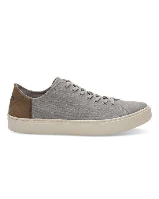 4b89ed0c839 TOMS - Gray Drizzle Grey Washed Canvas Men s Lenox Sneakers for Men - Lyst  ...