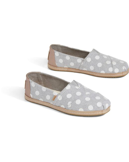 4d736d1da TOMS Grey White Dots Felt Women's Classics in Gray - Save 41% - Lyst
