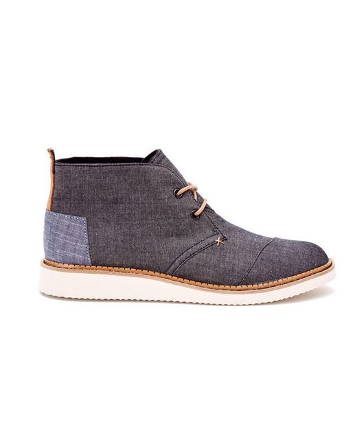 TOMS | Black Chambray Men's Mateo Chukka Boots for Men | Lyst