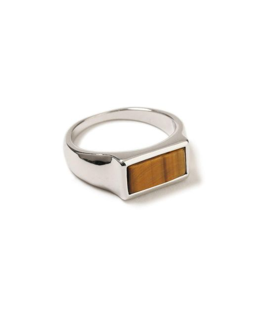Topman - Brown Ilver Stone Ring for Men - Lyst