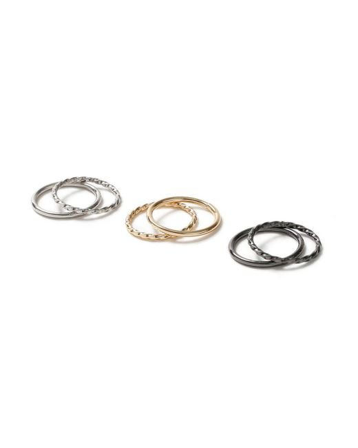 Topman   Gray Twist Band Ring Pack for Men   Lyst