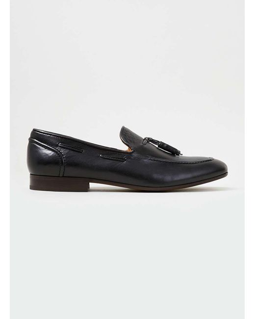 Topman - Brown Hudson's Black Leather Loafer for Men - Lyst
