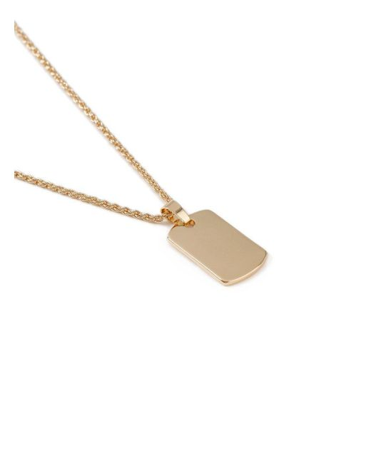Topman - Metallic Gold Dog Tag Necklace for Men - Lyst