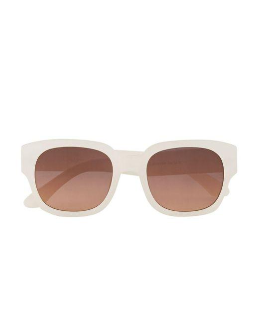 Topman Chunky Matte White Sunglasses in White for Men