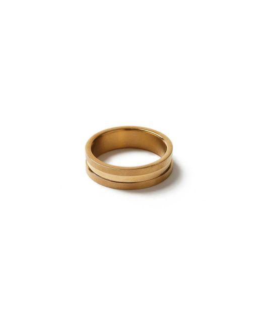 Topman | Metallic Gold Ridged Ring* for Men | Lyst