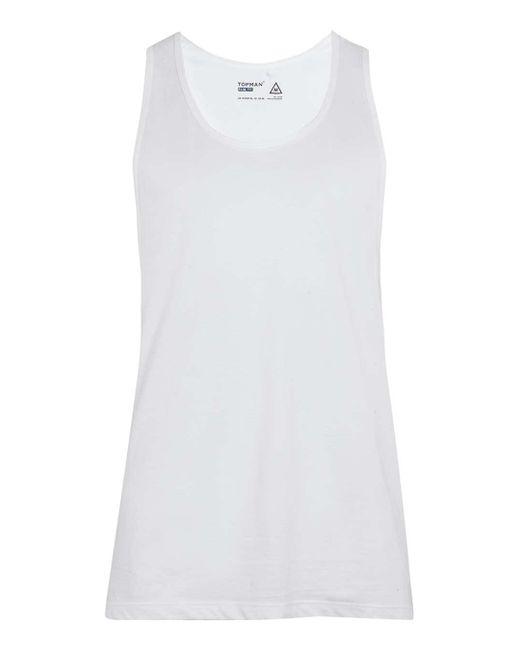 TOPMAN   White Slim Fit Vest for Men   Lyst