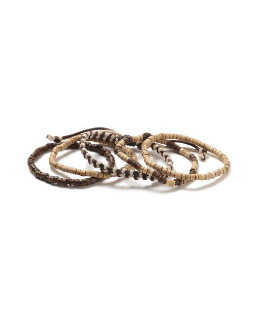 Topman - Brown Multipack Beaded Bracelet for Men - Lyst