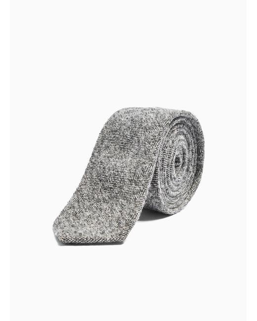 Topman Gray Grey Herringbone Tie for men