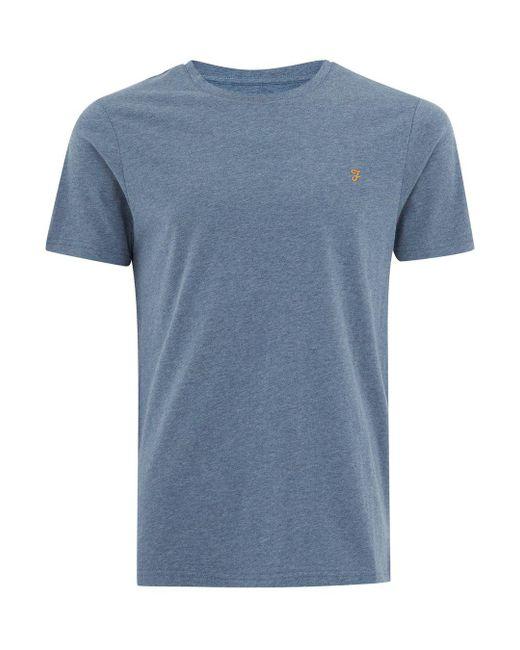 Topman - Blue Farah Dark Denim 'denny' Slim T-shirt for Men - Lyst