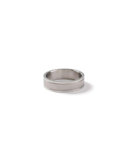 Topman - Metallic Ilver Etched Ring for Men - Lyst
