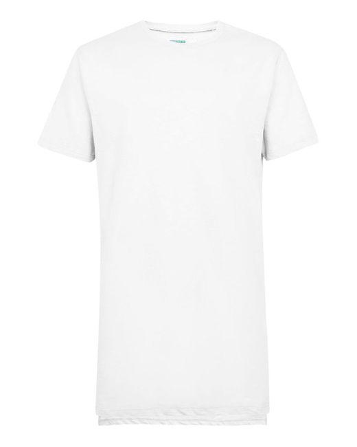 Topman - White Step Hem Longline T-shirt for Men - Lyst