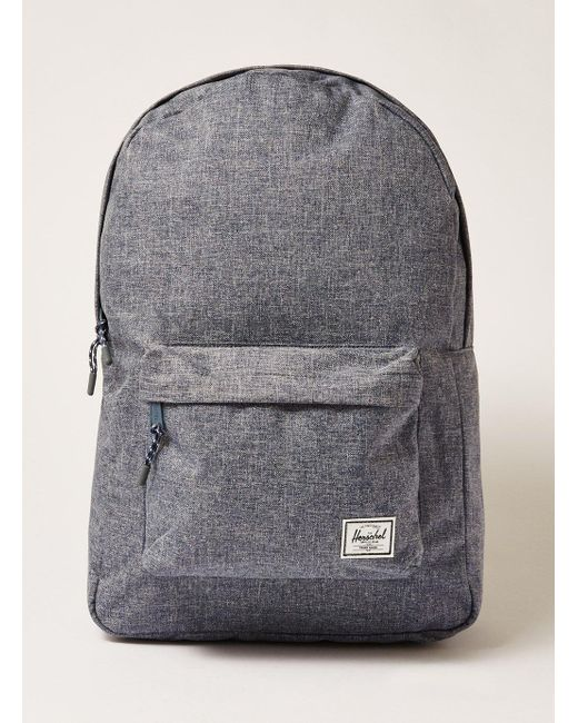Lyst - Herschel Supply Co. Chambray Classic Backpack in Gray for Men ... 33e0ec5dc000c