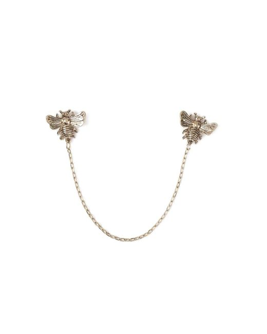 Topman - Metallic Gold Bee Collar Tips for Men - Lyst