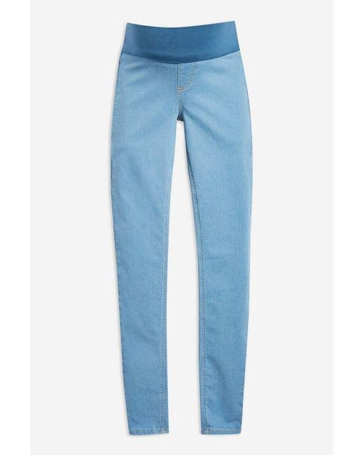 7604ead173a7c TOPSHOP - Blue maternity Under The Bump Joni Jeans - Lyst ...