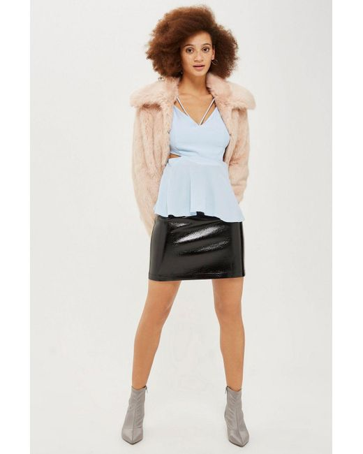 TOPSHOP - Blue Cut Out Camisole Top - Lyst