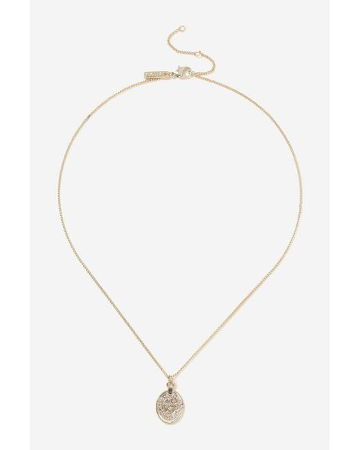 TOPSHOP - Metallic Gold Sovereign Ditsy Necklace - Lyst