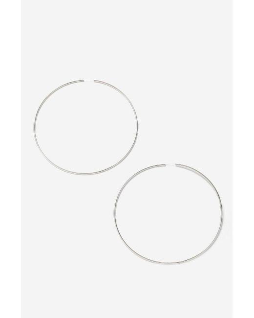 TOPSHOP - Metallic Oversized Hoop Earrings - Lyst