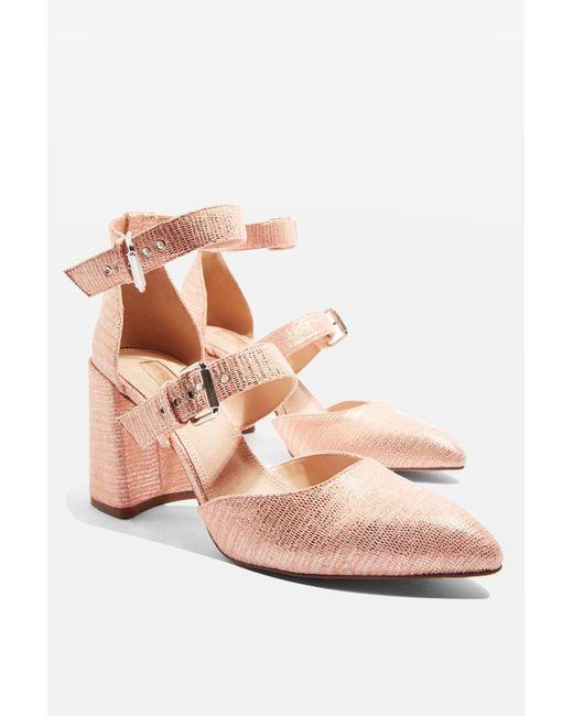 Gene Buckle Strap Heel Shoes Topshop