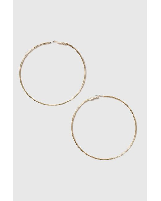 TOPSHOP - Metallic Gold Large Hoop Earrings - Lyst