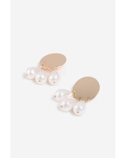 TOPSHOP - Metallic Pearl Drop Stud Earrings - Lyst