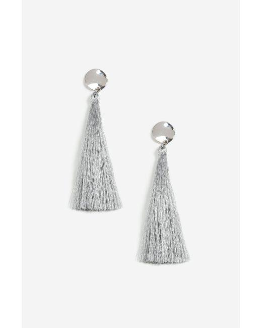 TOPSHOP - Metallic Stud Tassel Drop Earrings - Lyst