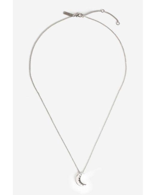 TOPSHOP - Metallic Moon Tranquillity Pendant Necklace - Lyst
